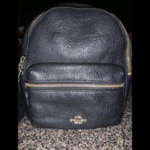 Coach Mini Leather Backpack Black